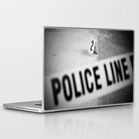 police Laptop & iPad Skins featuring Police Line by GF Fine Art Photography