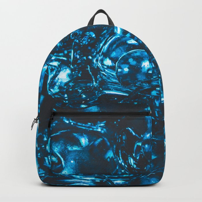Sparkly blue water marbles Backpack
