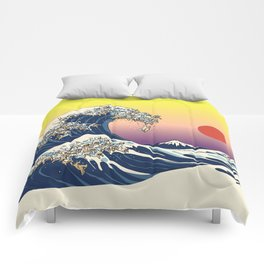 The Great Wave Of  Cat Comforters