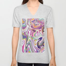 *SWIRL_COMPOSITION_1 Unisex V-Neck
