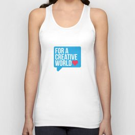 For a Creative World  Unisex Tank Top