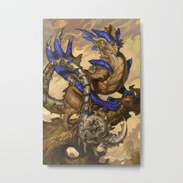 Zodiac Dragons Calendar Scorpio Metal Print