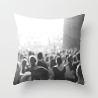 concert Throw Pillows featuring Fun Concert by Serena Jones Photography