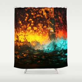 WATER FOUNTAIN LIHT REFLECTION Shower Curtain