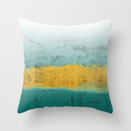 Teal and Gold Throw Pillow