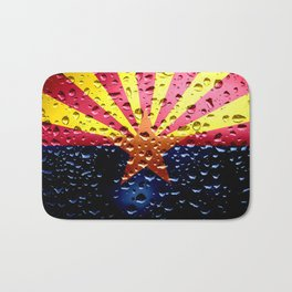 Flag of Arizona - Raindrops Bath Mat