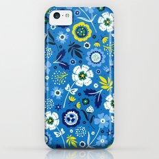 Folk Flowers (Blue) iPhone 5c Slim Case