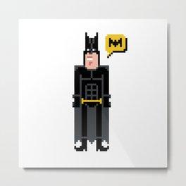 Pixel ManBat Metal Print