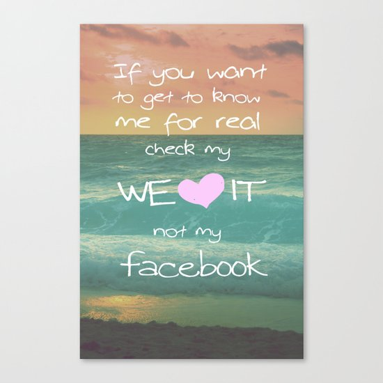 LOVE WE*HEART*IT Canvas Print
