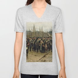 Isaac Lazarus Israels - Transport Of Colonial Soldiers - Digital Remastered Edition Unisex V-Neck