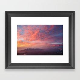 Haleakala Summit Sunset Framed Art Print