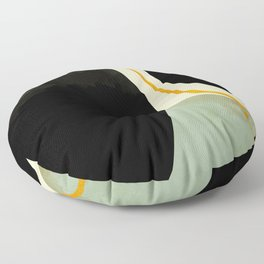 shapes organic mid century modern Floor Pillow
