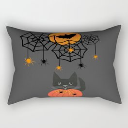 Happy Halloween Pumpkin Moon Rectangular Pillow