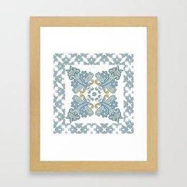 Traditional ornamental background. Paisley wedding design. Eastern style pattern Framed Art Print