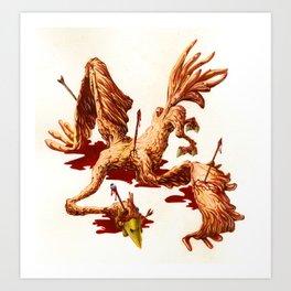 THE BIRD WOUNDED BY AN ARROW Art Print