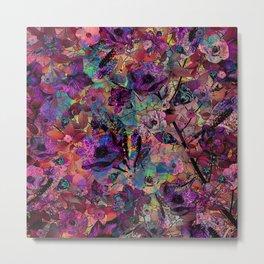 Neon Pastel Jungle Metal Print