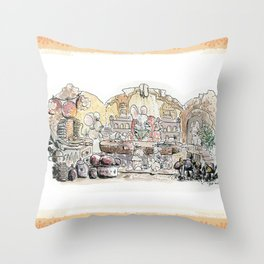 Thumbelina's house! Throw Pillow