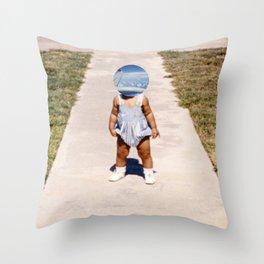 Faceless III Throw Pillow