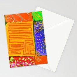 San Joan Patchwork- Neranja y verde Stationery Cards