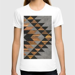 Urban Tribal Pattern No.10 - Aztec - Concrete and Wood T-shirt