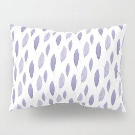 Purple Leaves Pillow Sham