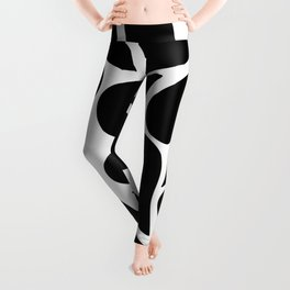 Abstract Black & White Foliage Pattern - Mix and Match with Simplicity of Life Leggings