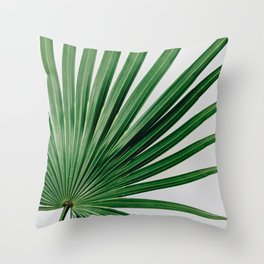 Palm Leaf Detail Throw Pillow