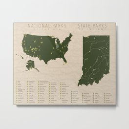 US National Parks - Indiana Metal Print
