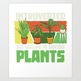 Introverted plant florist florist Art Print
