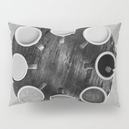 Coffee Circle (Black and White) Pillow Sham
