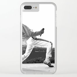 Freddie of Queen at Wembley 1986 Illustration Clear iPhone Case