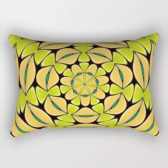 Orange/Green abstract Rectangular Pillow