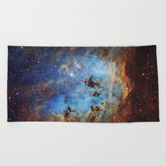 The Tapdole Nebula Beach Towel