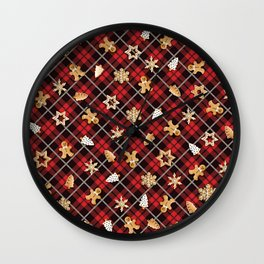 Gingerbread Red Wall Clock