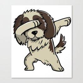 Dabbing Shih Tzu Dog Dab Dance Canvas Print