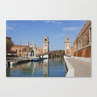 arsenal Canvas Prints featuring The Venetian Arsenal by Kiril Stanchev