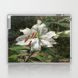 White Asiatic Lily Laptop & iPad Skin