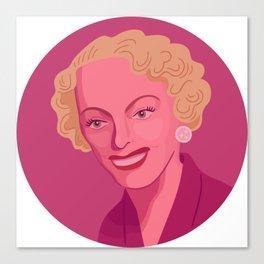 Queer Portrait - Christine Jorgensen Canvas Print