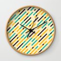 Retro Rounded Diagonal Stripes by nlmiller07art