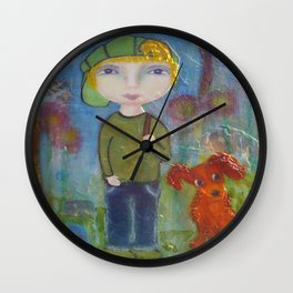 Anton & Gumbo - Whimsies of Light Children Series Wall Clock