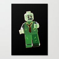 zombie Canvas Prints featuring Zombie by Emma Harckham