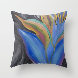 Jungle Lotus Throw Pillow