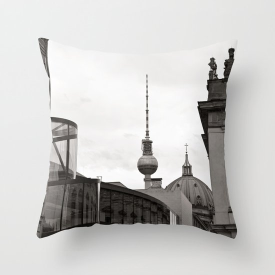 Deutsches Historisches Museum - Teletower - German Dome - Berlin Throw Pillow