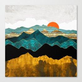 Turquoise Vista Canvas Print
