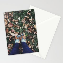 Fall Leaves & Shoes Stationery Cards