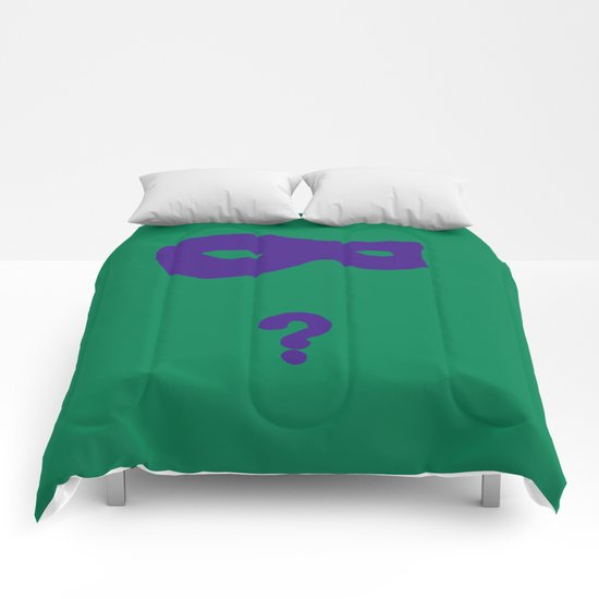 Riddler Icon Comforters
