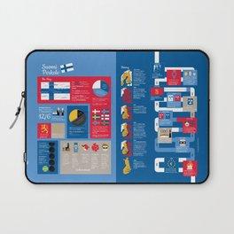Finland Infographic (English Version) Laptop Sleeve