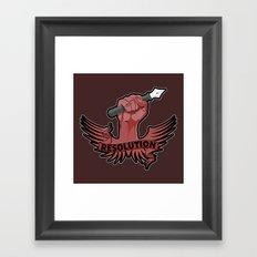 Viva la resolution! Framed Art Print