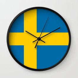 Flag of Sweden - Swedish Flag Wall Clock