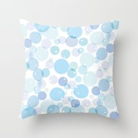 bubble Throw Pillows featuring Bubble by FACTORIE